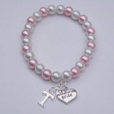 Mother Of The Bride Initial Bracelet - Beaded Style
